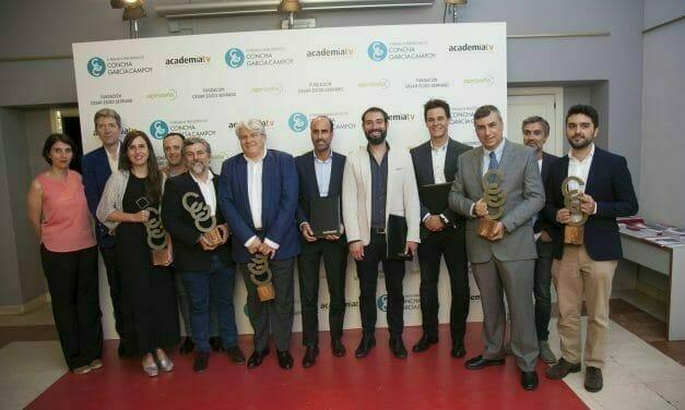 Antonio Rial, de Radio 5, recoge su galardón en los IV Premios de Periodismo Científico Concha García Campoy